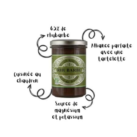Breizh Konfitur - Confiture de Rhubarbe bio