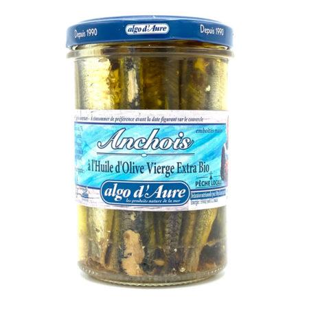 Algo d'Aure - Anchois à l'huile d'Olive Vierge Extra Bio