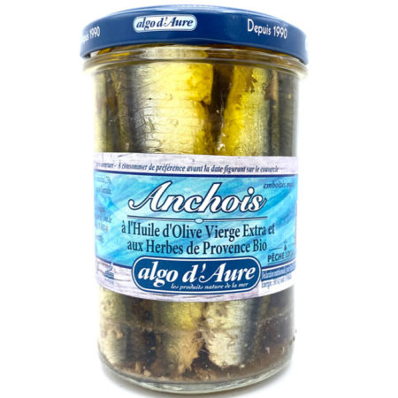 Algo d'Aure - Anchois à l'huile d'olive et aux Herbes de Provence bio