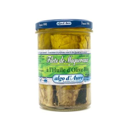 Algo d'Aure - Filets de Maquereaux à l'huile d'olive bio