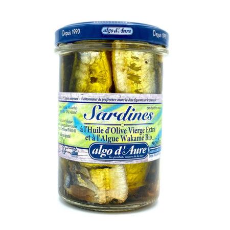 Algo d'Aure - Sardines à l'huile d'olive vierge extra et à l'algue wakamé bio