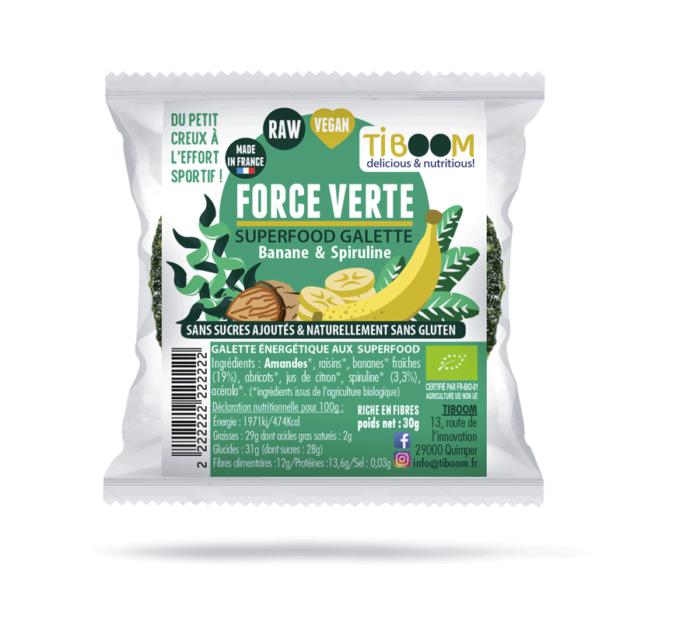 Tiboom - Force Verte Galettes énergétiques Banane et Spiruline
