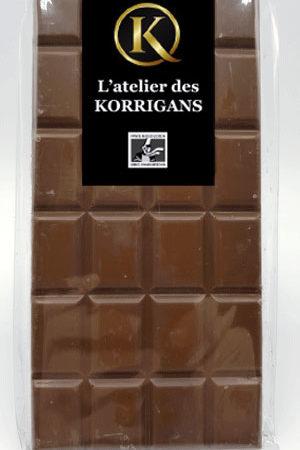 L'Atelier des Korrigans - Fournisseur Chocolat bio - Tablette de Chocolat au lait