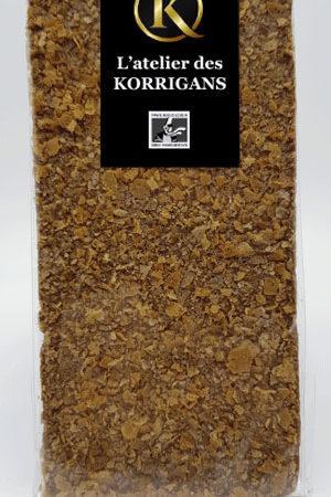 L'Atelier des Korrigans - Fournisseur Chocolat bio - Tablette de Chocolat au lait aux Crêpes Dentelles