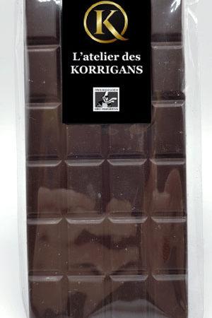 L'Atelier des Korrigans - Fournisseur Chocolat bio - Tablette de Chocolat noir