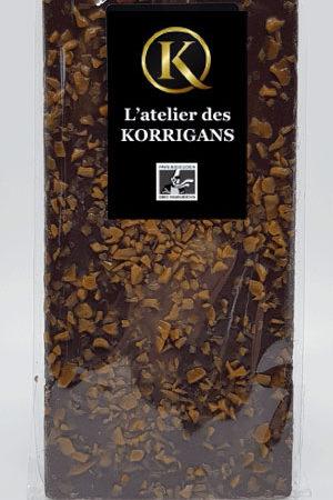 L'Atelier des Korrigans - Fournisseur Chocolat bio - Tablette de Chocolat noir au caramel
