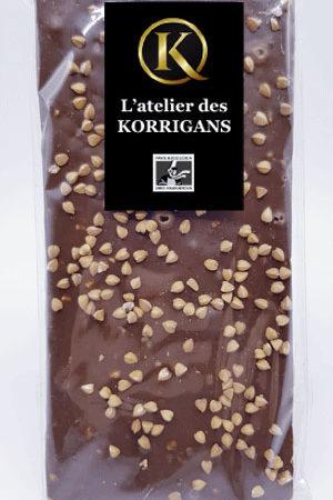 L'Atelier des Korrigans - Fournisseur Chocolat bio - Tablette de Chocolat noir au Sarrasin