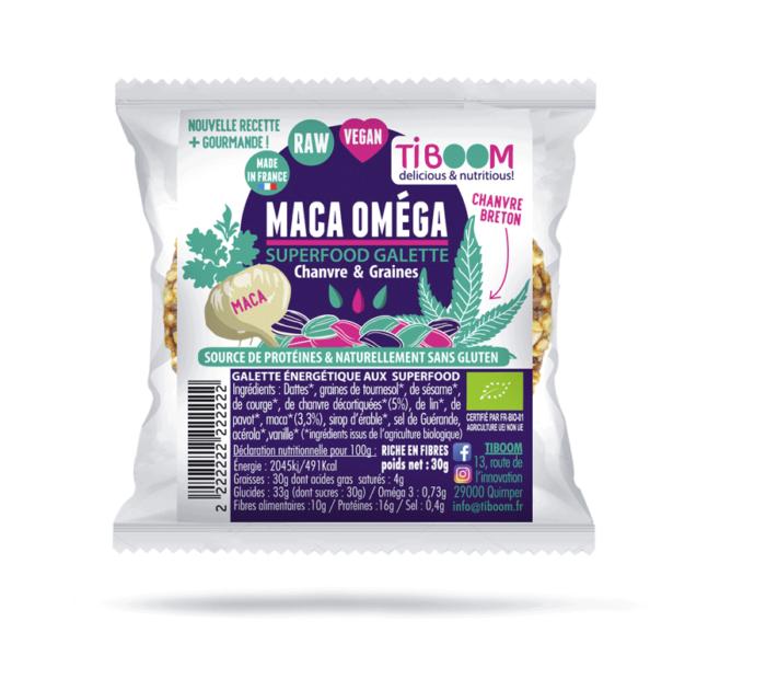 Tiboom - Maca Oméga Galtettes énergétiques Chanvre & Graines