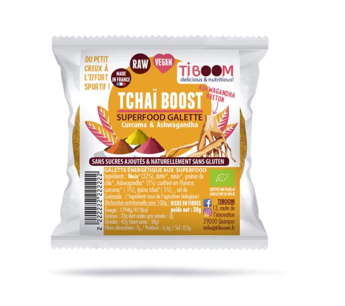 Tiboom - Tchaï Boost Galtettes énergétiques Curcuma & Ashwagandha