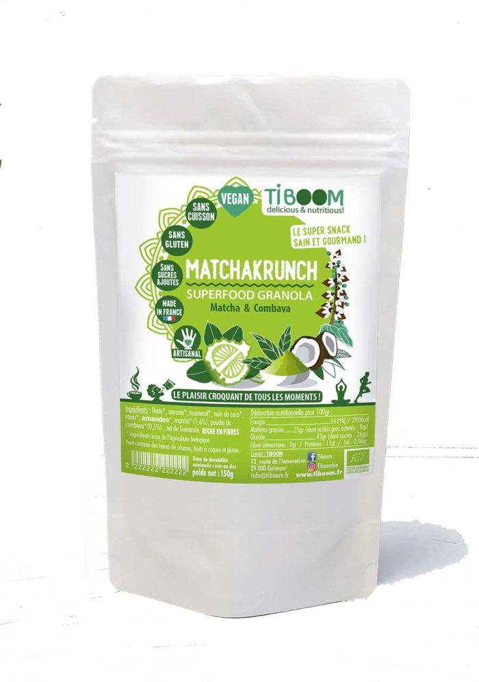 Tiboom - Matchakrunch - Superfood Granola Matcha & Combava