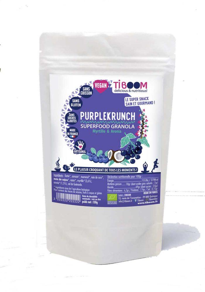 Tiboom - Purplekrucnh- Superfood Granola Mytille & Aronia