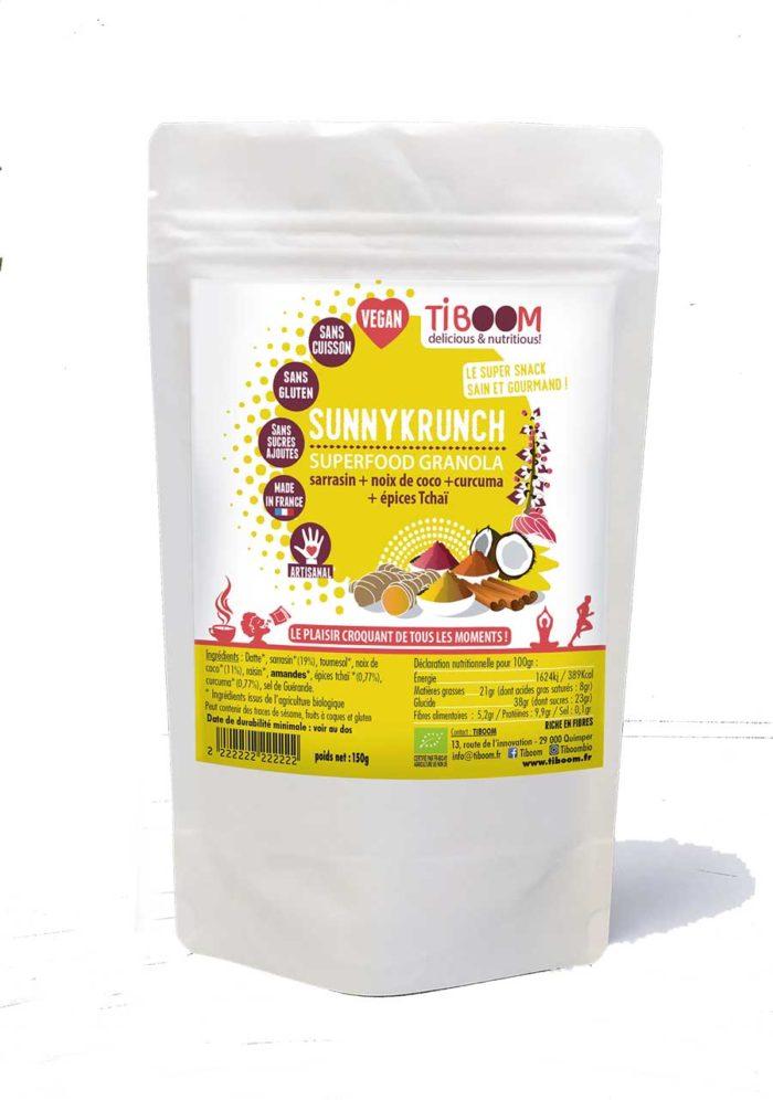 Tiboom - Sunnykrunch - Superfood Granola Tchaï & Curcuma