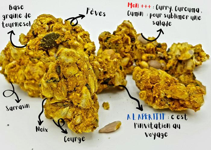 Tiboom - Apérokrunch - Granola salé à l'Indienne