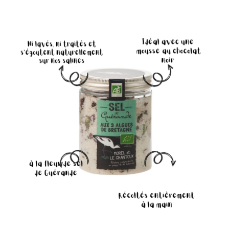 L'Atelier du Sel - Boîte de Sel de Guérande aux 3 Algues de Bretagne bio