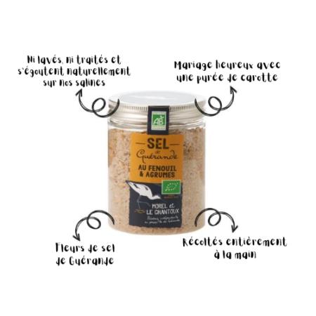 L'Atelier du Sel - Boîte de Sel de Guérande au Fenouil & Agrumes bio