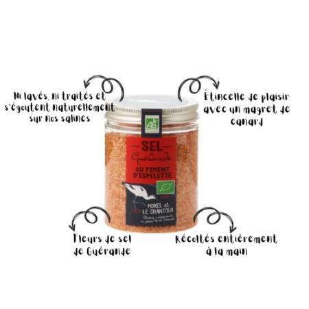 L'Atelier du Sel - Boîte de Sel de Guérande au Piment d'Espelette bio