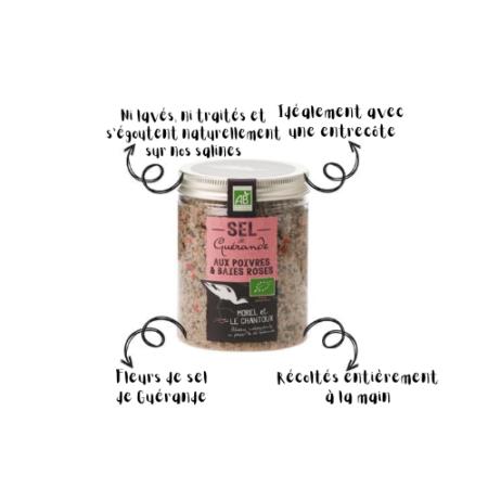 L'Atelier du Sel - Boîte de Sel de Guérande aux Poivres & Baies Roses bio