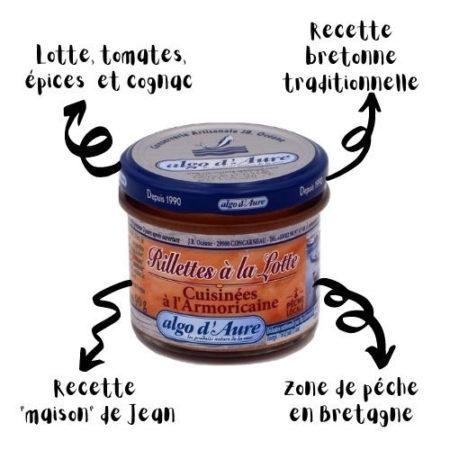 Algo d'Aure - Rillettes à la Lotte Cuisinées à l'Armoricaine