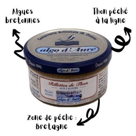 Algo d'Aure - Rillettes de Thon aux 3 Algues
