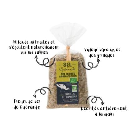 L'Atelier du Sel - Sachet de Sel de Guérande aux herbes aromatiques bio