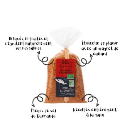 L'Atelier du Sel - Sachet de Sel de Guérande au Piment d'Espelette bio