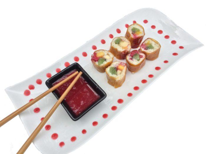 Fruit Ride - Dessert décoration avec lacets de fruits