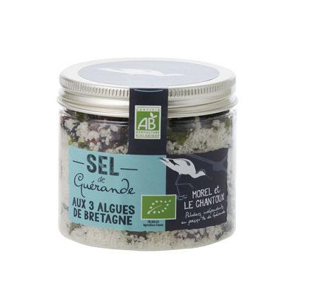 L'Atelier du Sel - Sel de Guérande aux 3 Algues de Bretagne bio - Boîte de 150g