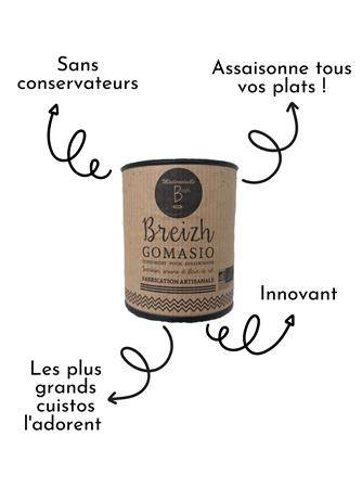 Mademoiselle Breizh - Breizh Gomasio - Condiment pour Assaisonner
