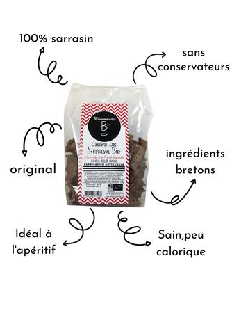 Mademoiselle Breizh - Chips de Sarrasin bio à la tomate et au Piment d'Espelette