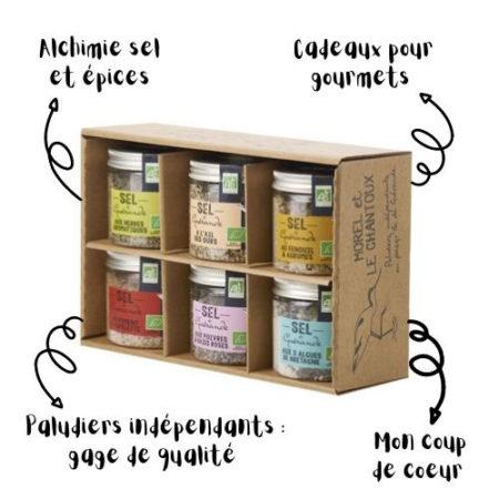 L'Atelier du Sel - Pack découverte de 6 boites de Sel de Guérande