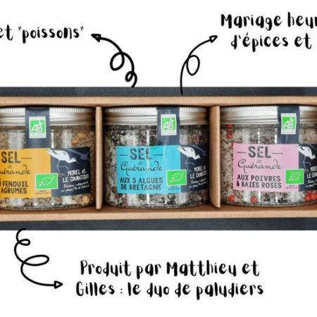 L'Atelier du Sel - Pack découverte de 3 boites de Sel de Guérande pour poisson