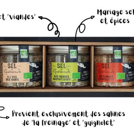 L'Atelier du Sel - Pack découverte de 3 boites de Sel de Guérande pour viande