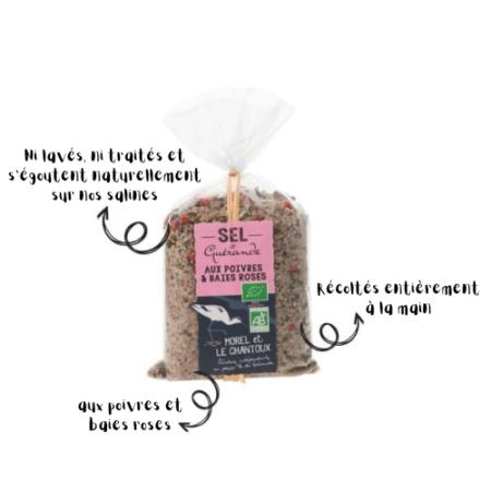 L'Atelier du Sel - Sachet de Sel de Guérande aux Poivres & Baies Roses bio