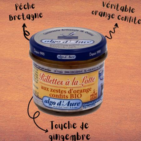 Algo d'Aure - Rillettes à la Lotte aux zestes d'orange confits bio