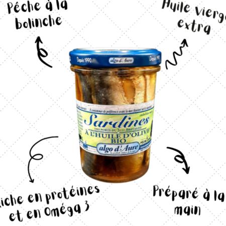 Algo d'Aure - Sardines à l'huile d'olive bio