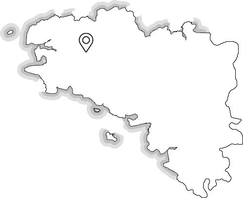 Localisation Coreff - Carhaix