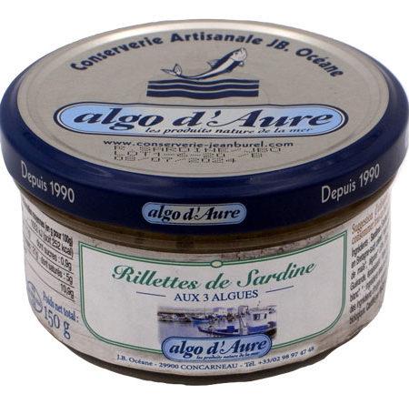 Algo d'Aure - Rillettes de Sardine aux 3 Algues