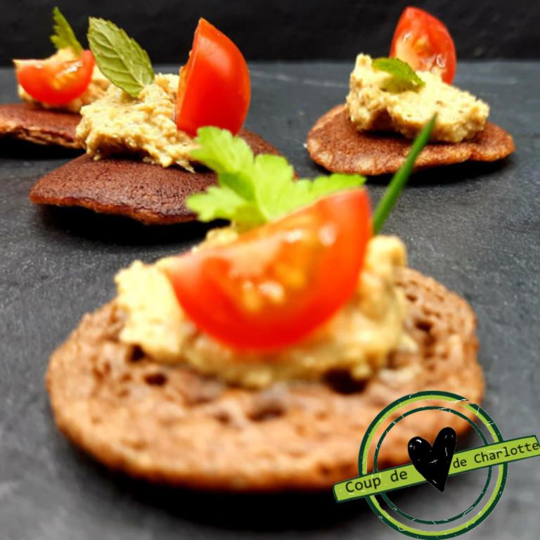 Recette - Tartinable de courgettes et Toast Sarrasin Maison Roz Spernez