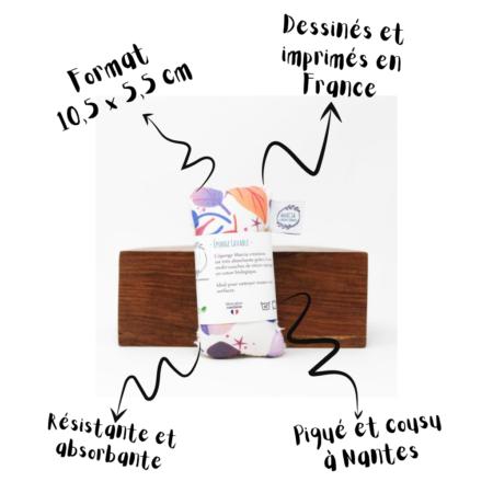 Marcia Création - Gri gri Eponge lavable Taille S