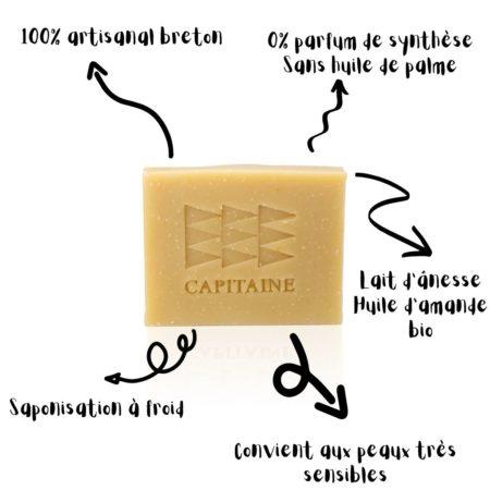 savon bio lait d'anesse capitaine cosmétiques